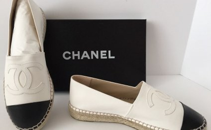 15S CHANEL White Leather