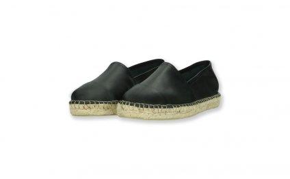 Black / Black flat espadrilles