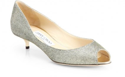 Jimmy choo gold glitter shoes