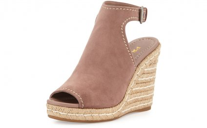 Prada Espadrille Wedge Sandals