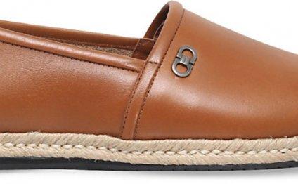 Leather Espadrilles, Men s