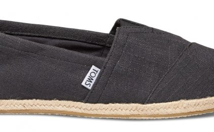 Toms Washed Black Linen