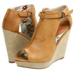Camel colored springtime summertime 2012 trendy wedge shoes