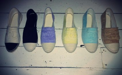 Chanel Espadrilles colors