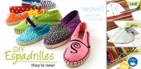 Dritz Do-it-yourself Espadrille footwear: reduce, sew & sew
