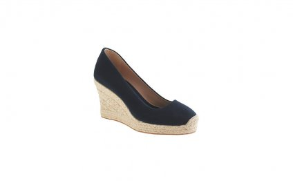 Black Espadrilles Wedge Closed Toe