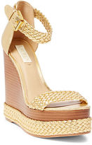 Ralph Lauren Mahina Metallic Wedge Sandal