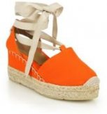 Ralph Lauren Uma Canvas Espadrille Wedge Sandals