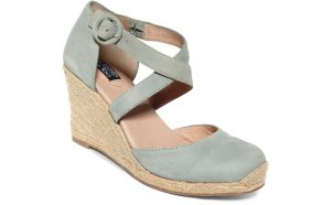 Closed Toe Espadrille Wedge Sandals