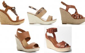 Tan Espadrille Wedges