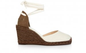 White Espadrilles Wedges