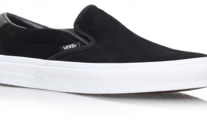 Black Suede Slip-On on